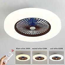 LED Modern Deckenventilator Licht, LED Dimmbar Fan