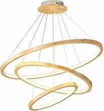 LED Modern Design Pendelleuchte Holz esstisch