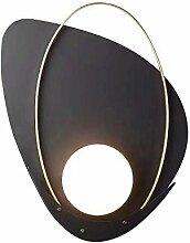 LED Modern Schwarz Wandleuchte Glas Kugel