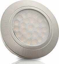 LED Möbel Einbaustrahler LUCCA Edelstahl Optik