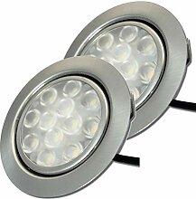 LED Möbeleinbauleuchten 12V flach 2 x 3W