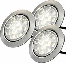LED Möbeleinbauleuchten 12V flach 3 x 2,4W