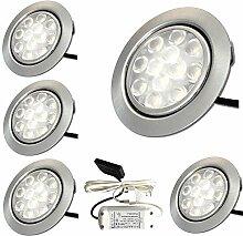 LED Möbeleinbauleuchten 12V flach 5 x 3W