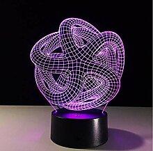 Led Nachtlicht Abstraktion 3D Nachtlicht Rgb
