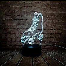 LED Nachtlicht Illusion 3D Lampe Sport Rollschuhe