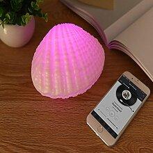 Led Nachtlicht Lichtlampen Beleuchtung,AOKARLIA Bunt Musik- Stimmungslampe, Kreativ USB Schale Licht Zum Bett Geschenk Büro