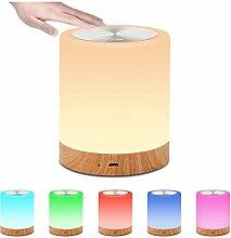 LED-Nachtlicht, Touch-Sensor, Nachttischlampe für