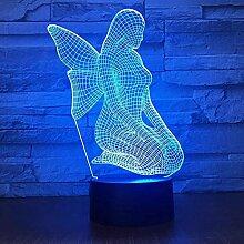 Led Nachtlichter 3D 7 Farbwechsel Fee 3D Licht