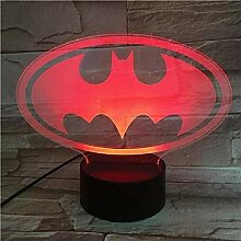 Led Nachtlichter 3D Batman Figur 3D Optische