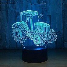 LED-Nachtlichter 3D Farm Traktor 3D-LED-Lampe