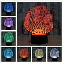 Led-Nachtlichter 3D Mit 7 Farben Beleuchtet