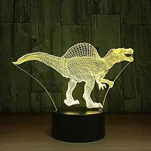 LED Nachtlichter 3D Spinosaurus 3D Lampe LED USB