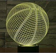 Led-nachtlichter Basketball Mit 7 Farben Licht