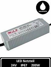 LED Netzteil 24V 8A 200 W Transformator DC IP67