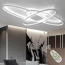LED Oval Deckenleuchte, Modern 3-Ring Wohnzimmer