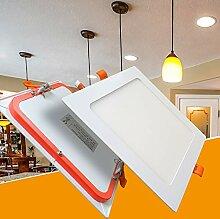 LED Panel 12W eckig flach ultraslim warmweiß