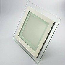 LED Panel 12W ECKIG quadratisch warmweiß Glasrand