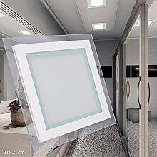 LED Panel 18W ECKIG quadratisch warmweiß Glasrand