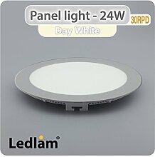 LED Panel 24 Watt rund 30cm neutral weiß -