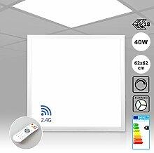 LED Panel dimmbar 62x62 mit Fernbedienung 40W