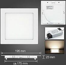 LED Panel Leuchte, Dimmbar 15W 1060lm 200x200mm