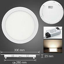 LED Panel Leuchte Dimmbar 24W/300mm Warmweiß
