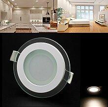 LED Panel Leuchte Glas Dimmbar Rund Deckenlampe