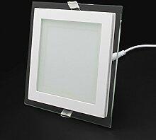 LED Panel Leuchte Glas Quadrat Deckenlampe