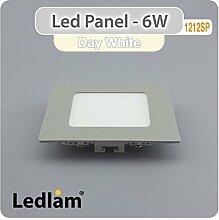 LED Panel silber quadratisch 12 x 12cm 6 Watt