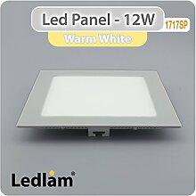 LED Panel silber quadratisch 17 x 17cm 12 Watt