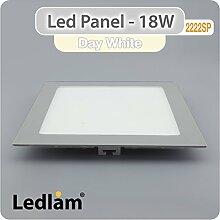 LED Panel silber quadratisch 22 x 22cm 18 Watt