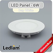 LED Panel weiss rund Ø 12cm 6 Watt neutralweiß