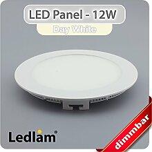 LED Panel weiss rund Ø 17cm 12 Watt neutralweiß