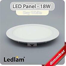 LED Panel weiss rund Ø 22cm 18 Watt neutralweiß