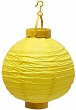 LED Papier Laterne gelb batteriebetrieben Garten Pavillon ru