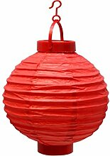LED Papier Laterne rot batteriebetrieben Garten Pavillon run