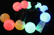 LED Party Lichterkette 10 LED bunte Kugeln 10 LED Gartenbeleuchtung Dekoration