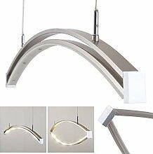 LED Pendelleuchte Alcove aus Metall in Mattnickel