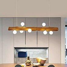 LED Pendelleuchte Aus Holz Rustikal Esstisch