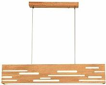 LED Pendelleuchte Esstisch aus Holz Pendellampe