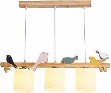LED Pendelleuchte Esstisch-Lampe Holz