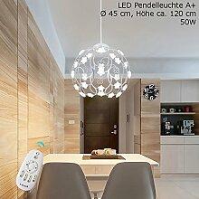 LED Pendelleuchte XW813YS-Silber inkl