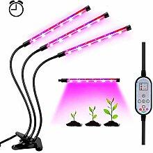 LED Pflanzenlampe mit Zeitschaltuhr 36W 18 LED