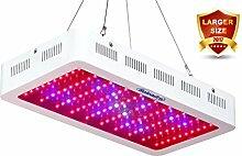 LED Pflanzenlampe, Roleadro Grow Lampe 300w mit Daisy-Chain Funktion und IR UV Licht für Indoor Pflanzen Blüte Gemüse im Gewächshaus/Growbox