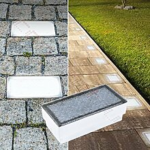 LED Pflasterstein Bodenleuchte Gartenstrahler Bodeneinbauleuchte Außenleuchte IP67 230V (Warmweiß 10x20cm rechteckig #PF2)