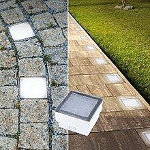 LED Pflasterstein Bodenleuchte Gartenstrahler Bodeneinbauleuchte Außenleuchte IP68 230V (Tageslichtweiß 8x8cm quadratisch #PF1)
