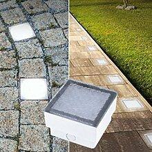 LED Pflasterstein Bodenleuchte Gartenstrahler Bodeneinbauleuchte Außenleuchte IP67 230V (Neutralweiß 10x10cm quardatisch #PF3)