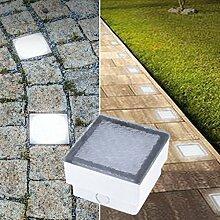 LED Pflasterstein Bodenleuchte Gartenstrahler Bodeneinbauleuchte Außenleuchte IP67 230V (Warmweiß 10x10cm quardatisch #PF3)
