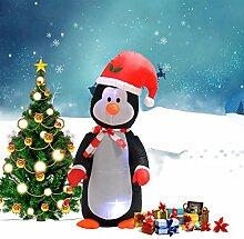 LED Pinguin aufblasbar Weihnachtsfigur Weihnachtsdeko Ladendeko 122cm