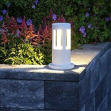 LED-Pollerleuchte 25cm Höhe weiß | Alu